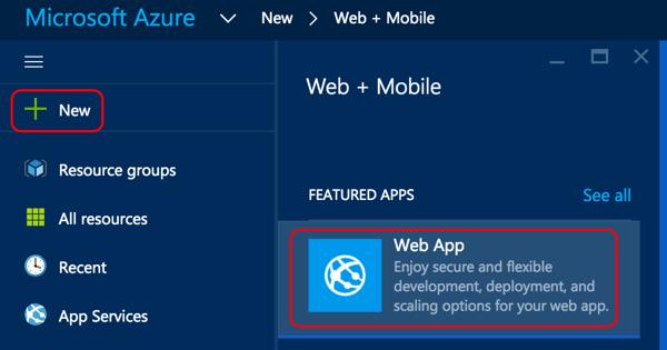 Screenshot of Azure Portal